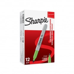 Marker perm  Sharpie F lime...