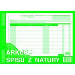 Arkusz spisu z natury MiP...