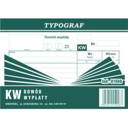 Dowód wypłaty KW Typograf...